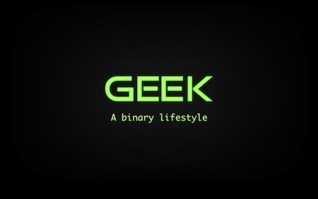 Geek Binary Style
