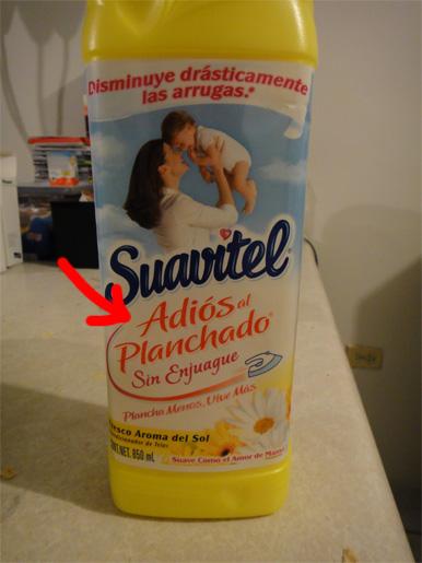 Botella de Suavitel - parte frontal
