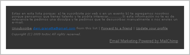 Mail de TocToc