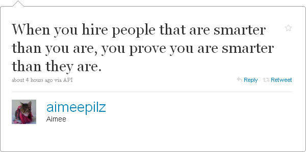When you hire people…