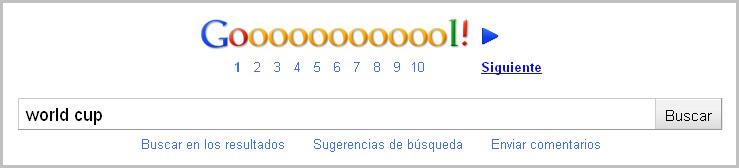 "Búsqueda de ""World Cup"" en Google"