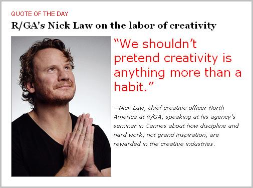 We shouldn't pretend creativity…