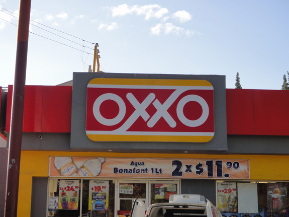 Fachada del Oxxo
