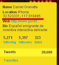 Perfil en Twitter de Daniel