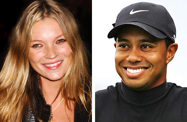 Kate Moss y Tiger Woods
