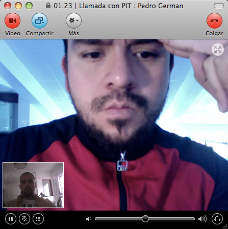 Conversación por Skype con Pit