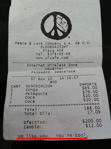 Ticket de Peace and Love