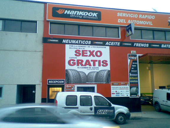 Oferta de taller de neumáticos