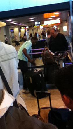 El cantante de gospel del aeropuerto