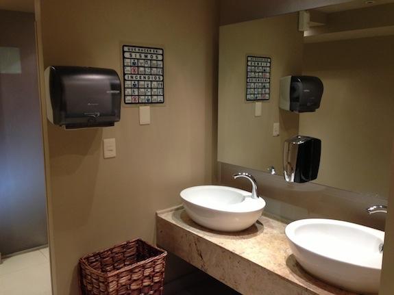 Cuarto de baño con sensores