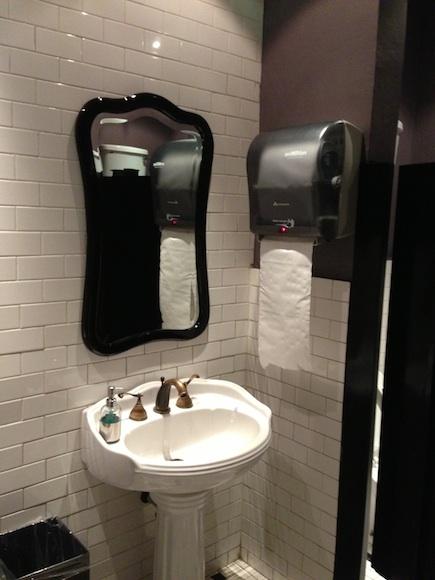 Cuarto de baño sin sensores
