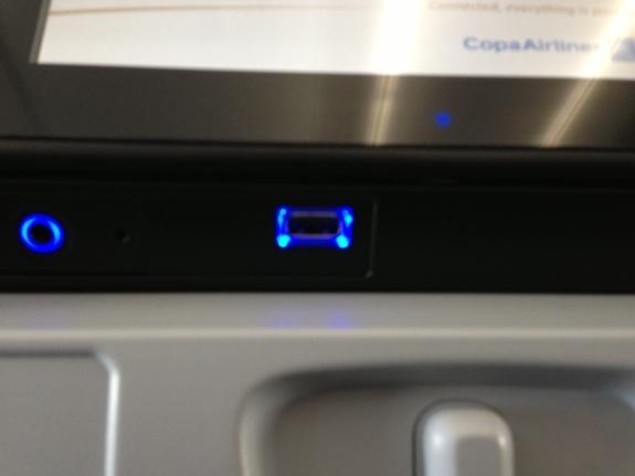 Ranura USB de la pantalla