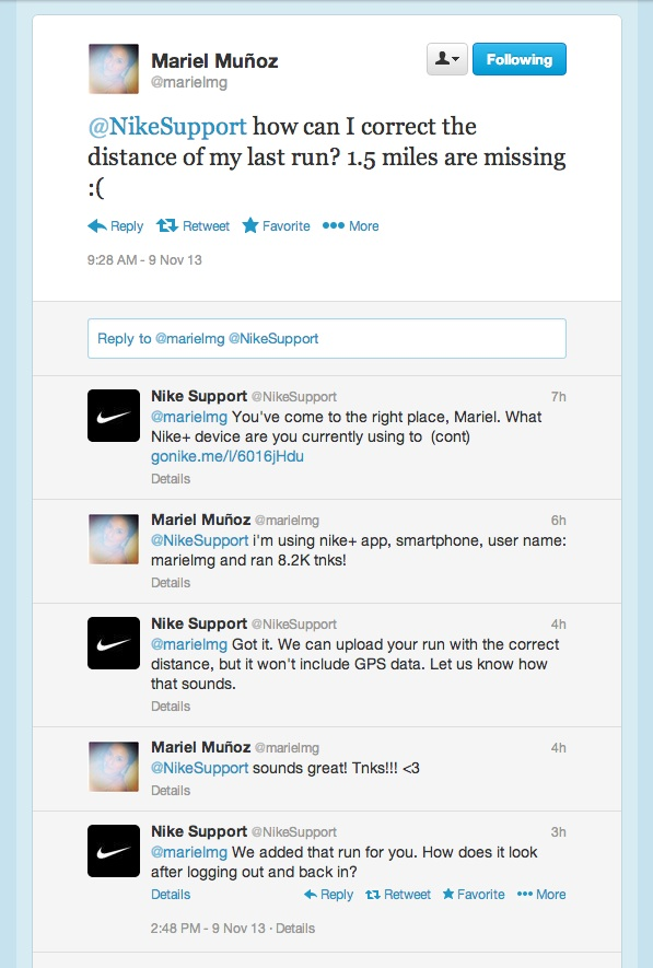 Nike Support + Mariel