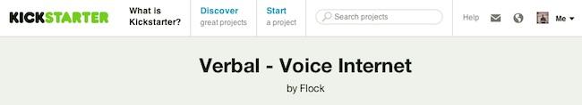 Verbal en Kickstarter