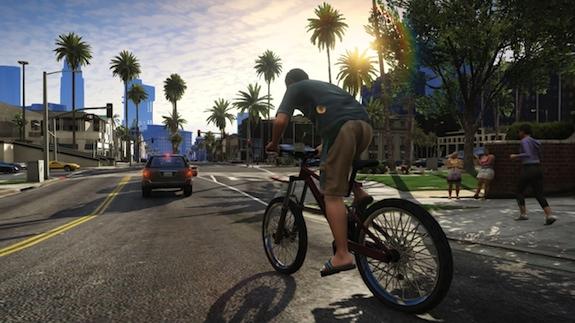 Gente andando en bicicleta en GTA V