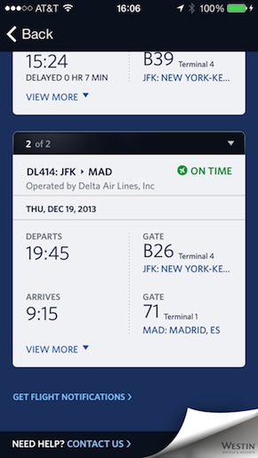 Listado de vuelos a Madrid