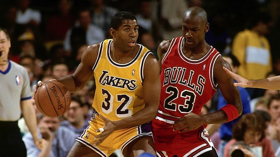 Magic Johnson vs Michael Jordan