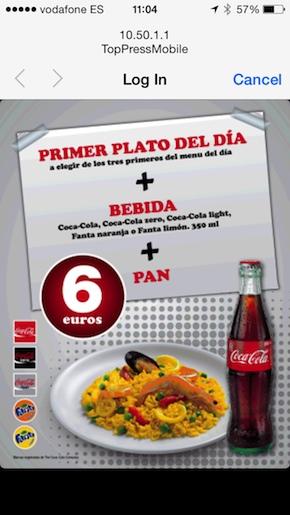 Wi-Fi + menú del día (en Madrid)