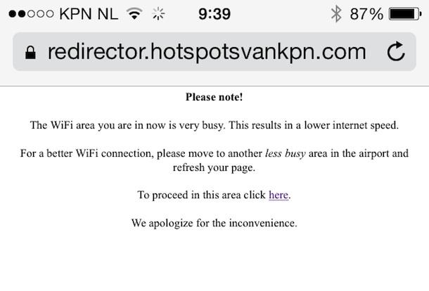 Login a Internet gratuito en el aeropuerto de Amsterdam - 3
