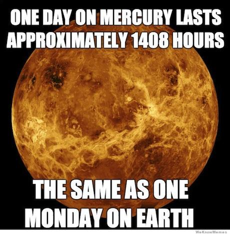 Lunes y Mercurio
