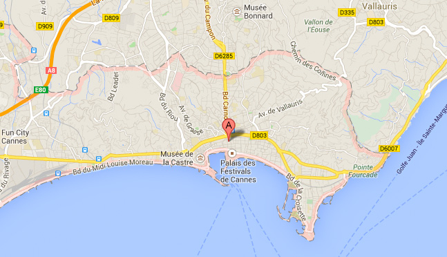 Cannes en Google Maps