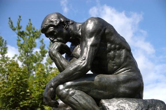 """""""El pensador"""" de Rodin"""
