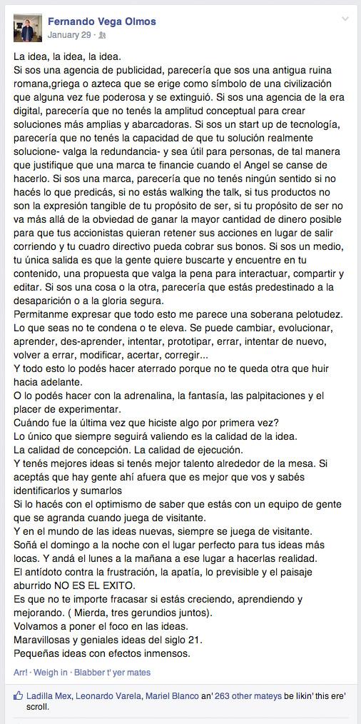 Reflexiones Vega Olmos