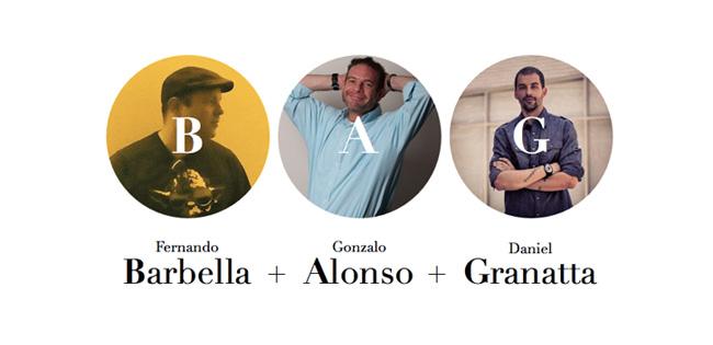 Fundadores BAG - Barbella + Alonso + Granatta