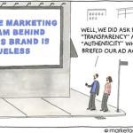 El equipo de marketing de esta marca....