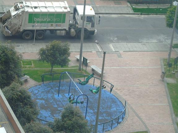Esparcimiento basureros de Bogotá