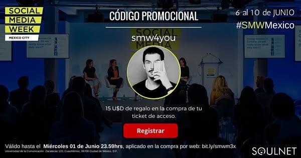 Código de descuento SMW CDMX