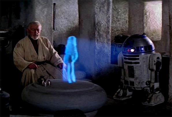 Leia pide ayuda a Obi Wan