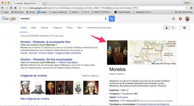 Morelos en Google