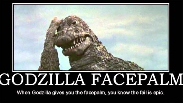 Facepalm de Godzilla