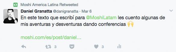 Tweets de Moshi Latam